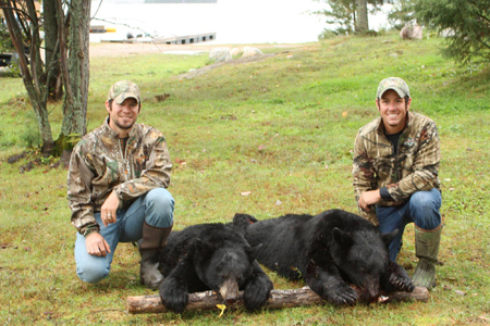 Black Bear Hunting at Manion Lake Camp, Ontario Canada