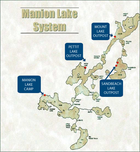 Manion Lake System Map